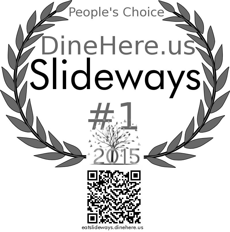 Slideways DineHere.us 2015 Award Winner